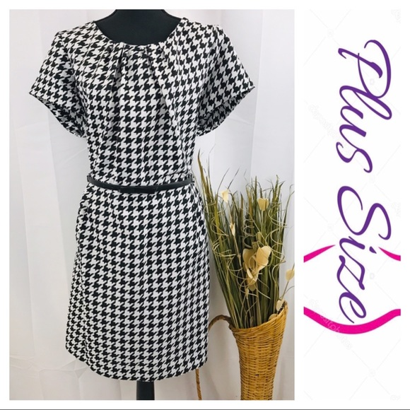 Shelby & Palmer Dresses | Plus Size Houndstooth Dress Adorable ...